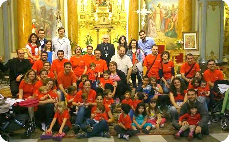 Grupo Tabor en el encuentro de Familias con el Obispo, Novelda 2014